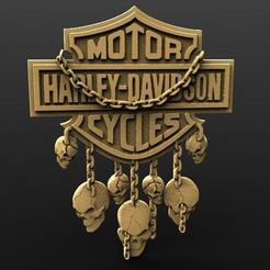 Harley davidson skull 1.1.jpg Download STL file Harley Davidson skulls • 3D printer template, Majs84
