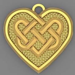 Celtic heart 1.1.JPG Download STL file Celtic heart pendant 1 • Object to 3D print, Majs84