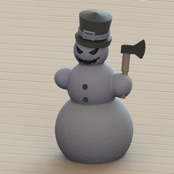 Download 3D printing designs Evil snowman, Majs84