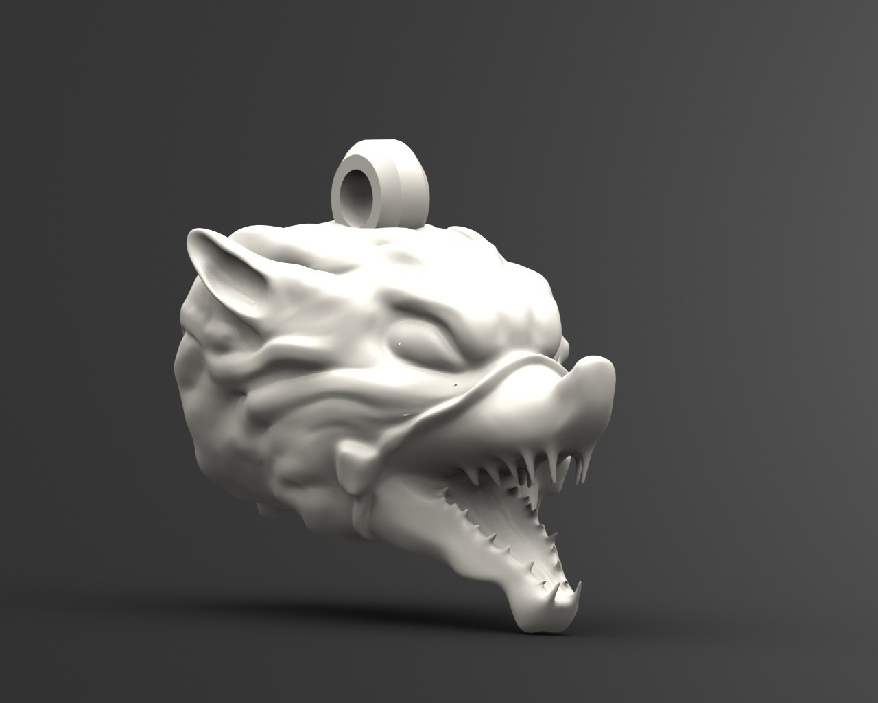 wolf 3.1.JPG Download STL file Wolf head keychain • 3D printable object, Majs84