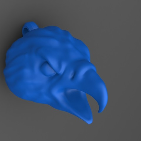 eagle head keychain 2.JPG Download STL file Eagle head keychain • 3D printable design, Majs84