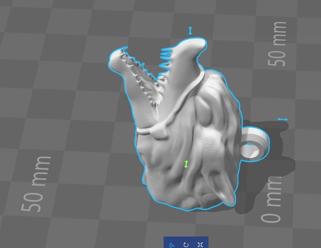 wolf 3.4.jpg Download STL file Wolf head keychain • 3D printable object, Majs84