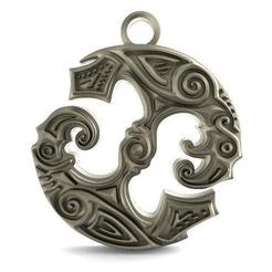 viking raven pendant 2.1.jpg Download STL file viking raven pendant 2 • 3D print model, Majs84
