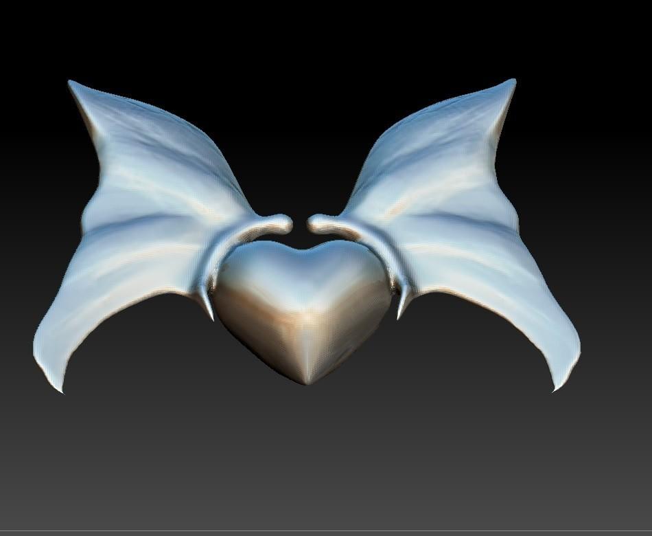 0Heart with butterfly pendant.jpg Download STL file Heart with butterfly pendant • Object to 3D print, Majs84