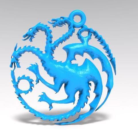 3D printing model Game of thrones targaryen keychain, Majs84