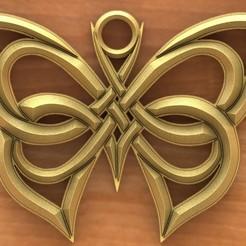 Celtic butterfly 1.1.JPG Download STL file Celtic butterfly 1 • 3D printing model, Majs84
