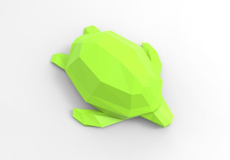 Turtle 2 lowpoly.jpg Download STL file Low-poly turtle • 3D printing design, Majs84