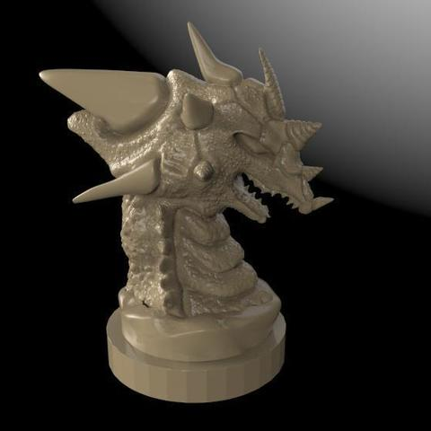 Download free 3D printer designs Dragon statue 2, Majs84