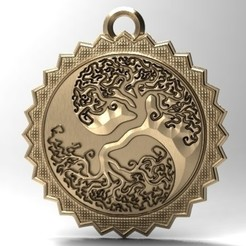 Yin yang tree pendant 1.1.jpg Download STL file Yin yang tree pendant 1 • 3D print template, Majs84