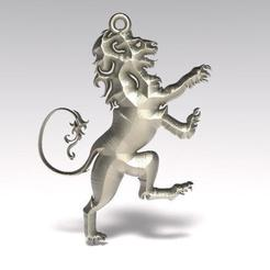 Download free 3D printer model Lion pendant 2, Majs84