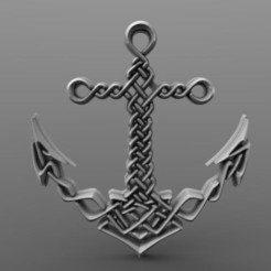 Celtic anchor .0.jpg Download STL file Celtic anchor • 3D printable model, Majs84