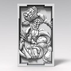 Download STL file Wolverine bas-relief CNC, Majs84
