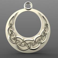 Celtic moon 1.1.jpg Download STL file Celtic moon pendant • 3D printing design, Majs84