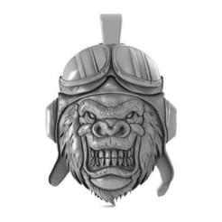 Gorila biker 1.1.jpg Download STL file Gorilla biker 1 • 3D printing template, Majs84