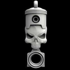 Skull piston keychain 1.1.jpg Download STL file Skull piston keychain 1 • 3D printer model, Majs84