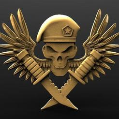 Skul soldier bas-relief .1.jpg Download STL file Soldier skull bas-relief cnc • 3D printing design, Majs84