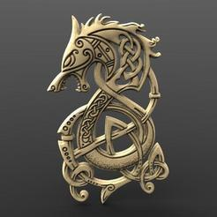 Viking pendant 4.0.jpg Download STL file Viking dragon 4 CNC • 3D printer template, Majs84