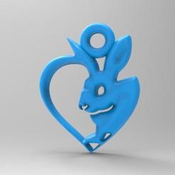 Fichier STL Pendentif coeur de lapin, Majs84