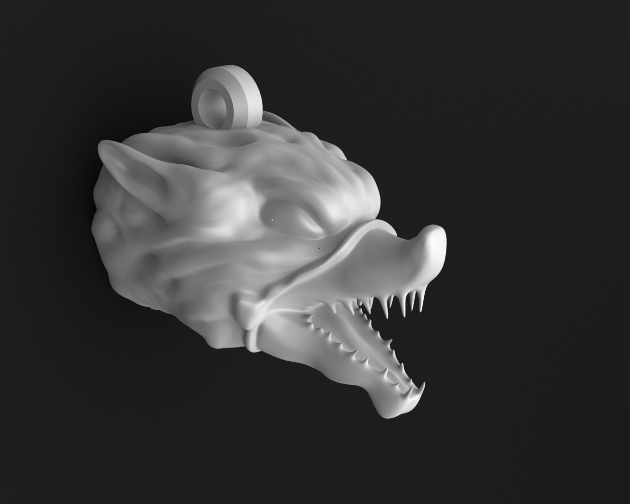 wolf 3.5.JPG Download STL file Wolf head keychain • 3D printable object, Majs84