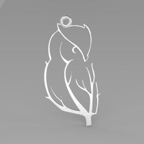 STL Owl earrings, Majs84