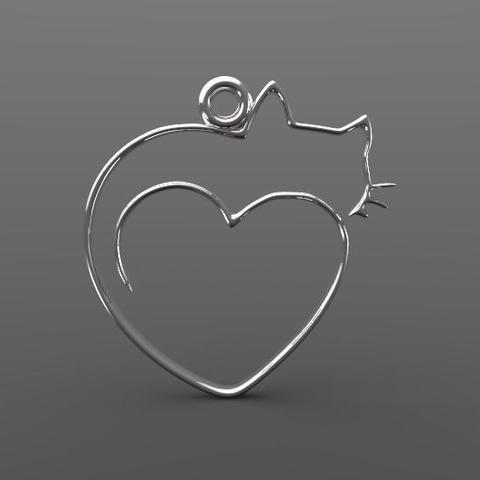 Descargar modelos 3D para imprimir Cat earring, Majs84