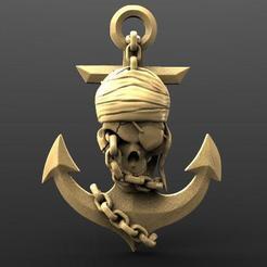 Pirate skull 3.1.jpg Download STL file Pirate skull 3 • 3D printable model, Majs84