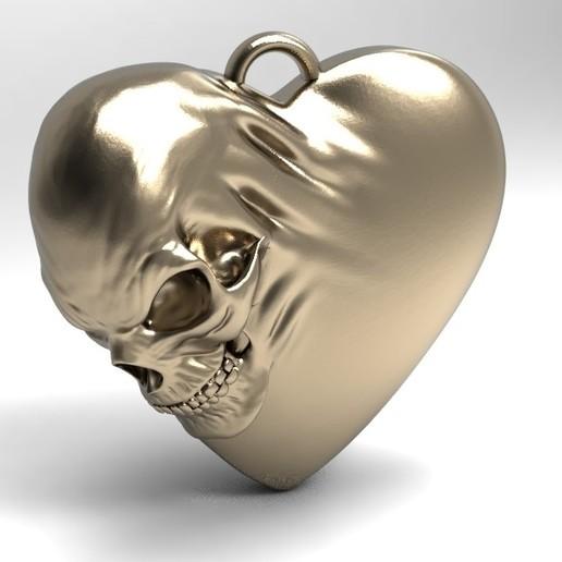 Download 3D printer designs Skull heart, Majs84
