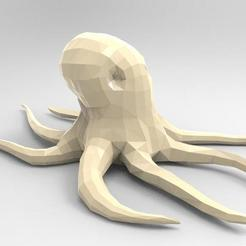Modelos 3D Octopus Low-poly, Majs84