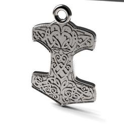 Download STL file Thor's Hammer keychain, Majs84