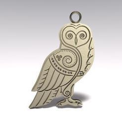 Descargar modelos 3D para imprimir Celtic owl, Majs84