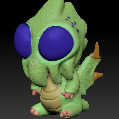 Download STL file Cthulhu baby • Object to 3D print, Majs84