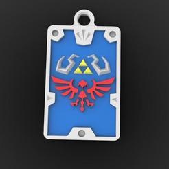 Zelda keychain 1.1.jpg Download STL file Zelda hyrule keychain 3 • 3D printing template, Majs84