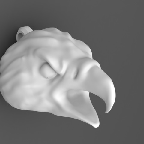 eagle head keychain 3.JPG Download STL file Eagle head keychain • 3D printable design, Majs84