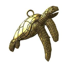 Turtle péndant .1.jpg Download STL file Turtle pendant • 3D printable object, Majs84