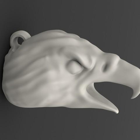 eagle head keychain.JPG Download STL file Eagle head keychain • 3D printable design, Majs84