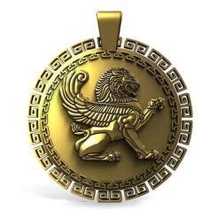 Winged lion pendant .1.jpg Download STL file Winged lion pendant • 3D print template, Majs84