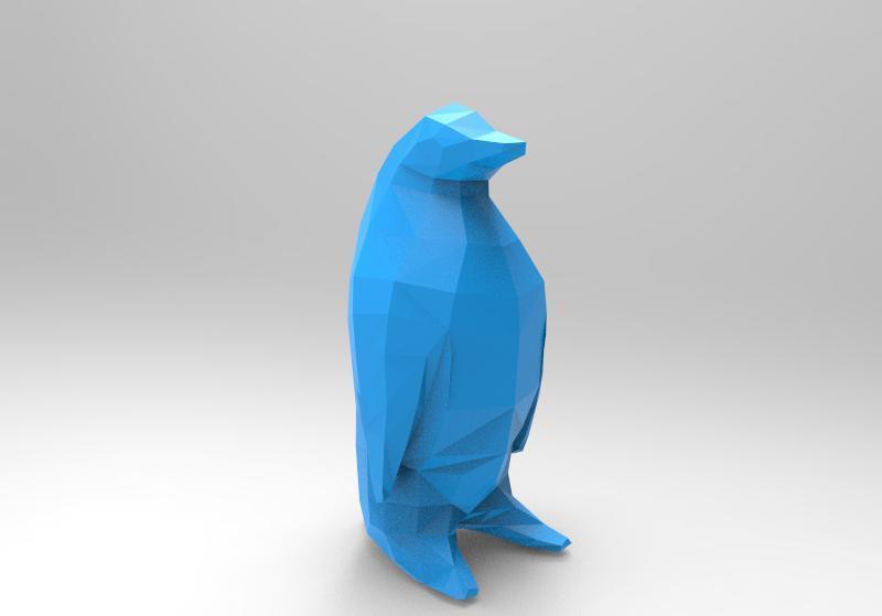 Penguin .3 lowpoly.jpg Download free STL file Penguin Low-poly • 3D printer model, Majs84