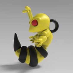 Download 3D printing designs Angry bee keychain, Majs84