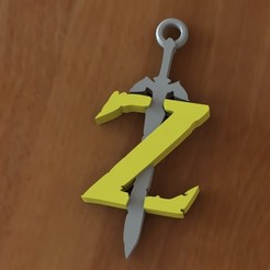 Download STL files Zelda sword keychain, Majs84