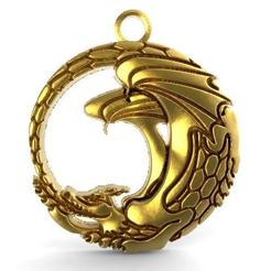 Dragon pendant 6.1.jpg Download STL file Dragon pendanr 6 • 3D print design, Majs84