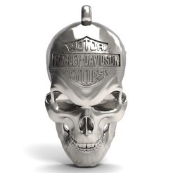 Harley skull 1.1.jpg Download STL file Harley Davidson • Design to 3D print, Majs84