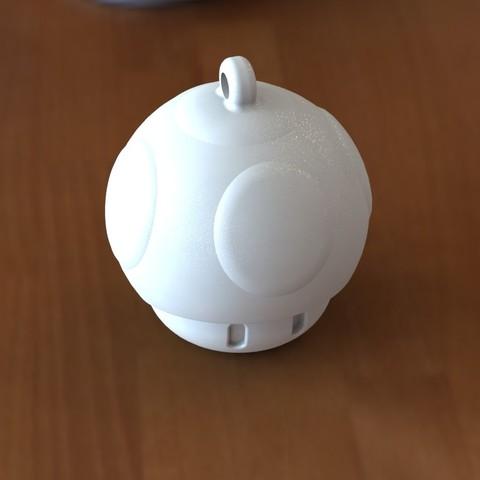 Mushroom keychain 3.JPG Download STL file Mushroom 1up Keychain • 3D printing template, Majs84