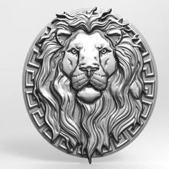 Lion bas-relief 3 CNC .1.jpg Download STL file Lion bas-relief 3 CNC • 3D printing design, Majs84