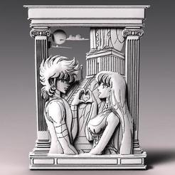 Saint seiya bas-relief .1.jpg Download STL file Saint Seiya bas-relief CNC • 3D printing template, Majs84