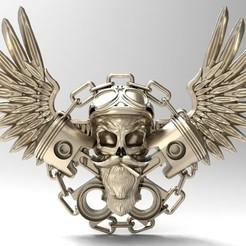 Download 3D print files Motorcycle skull, Majs84