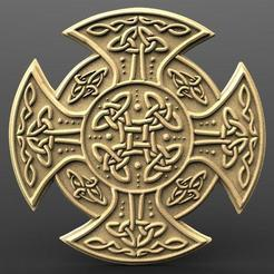 Celtic cross bas-relief.1.jpg Download STL file Celtic cross bas-relief cnc • 3D print model, Majs84