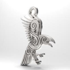 Download 3D printing models Odin raven pendant, Majs84