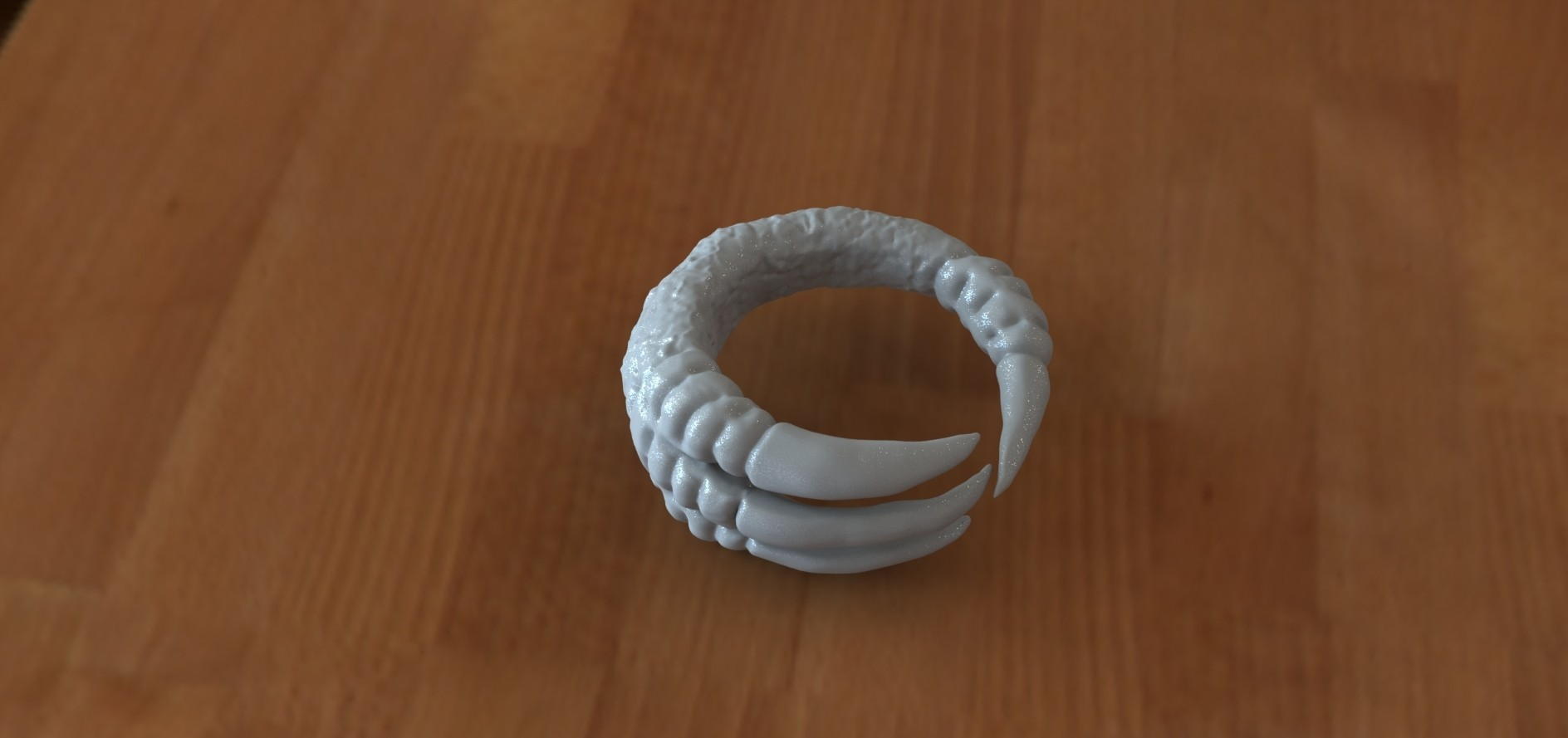 Claw ring 2.1.jpg Download STL file Claw ring • 3D print object, Majs84