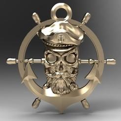 Skull pirate 1.2.JPG Download STL file Captain Pirate Skull • Model to 3D print, Majs84