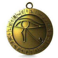 Eye of horus pendant .1.jpg Download STL file Eye of Horus • 3D printing object, Majs84